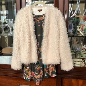 EUC 7 for all mankind Faux Fur Jacket